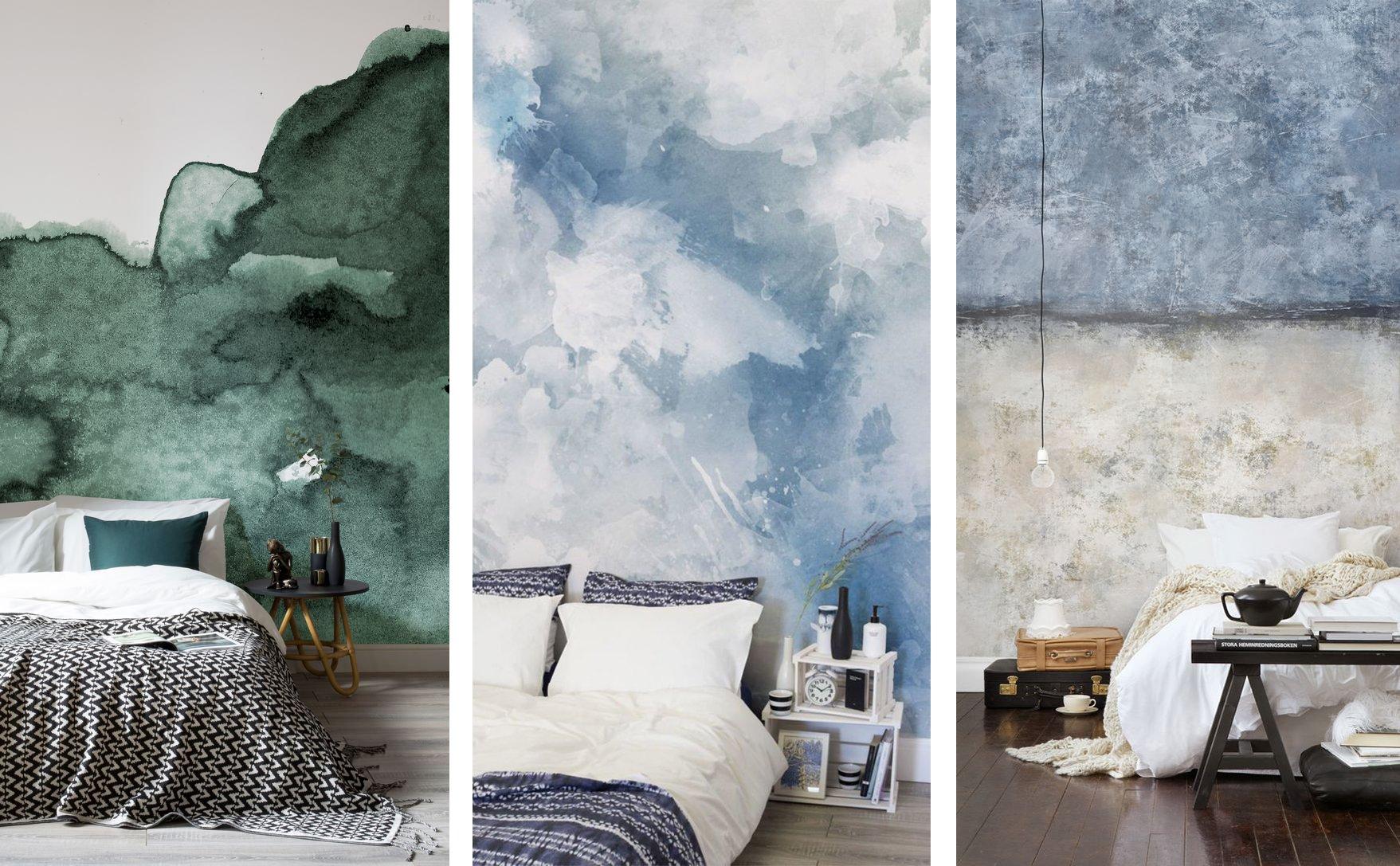 idee per decorare la parete del letto