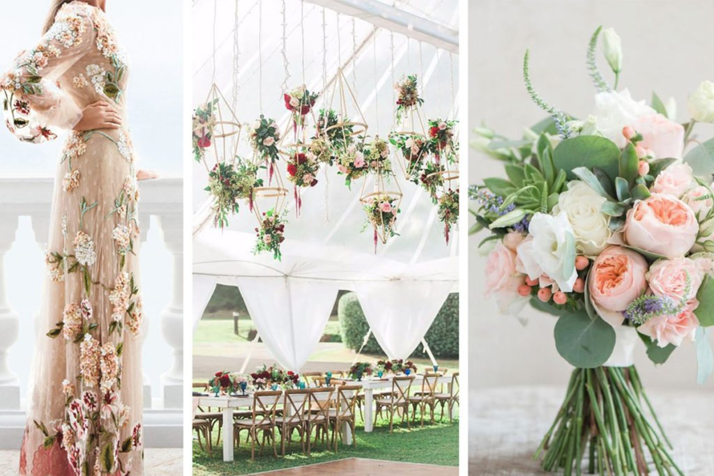 tendenze nozze 2018: sposarsi tra i fiori