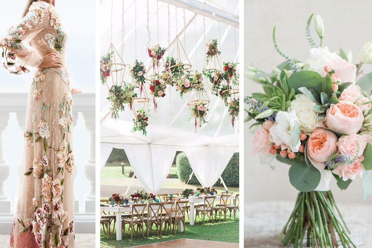 Tendenze nozze 2018 sposarsi tra i fiori bouquet for Luogo di nozze con cabine