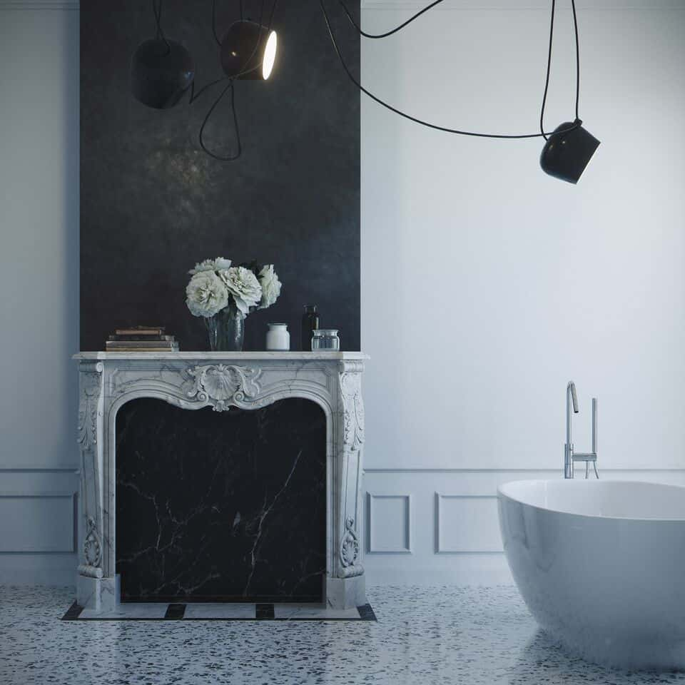 arredamento in stile parigino il marmorino