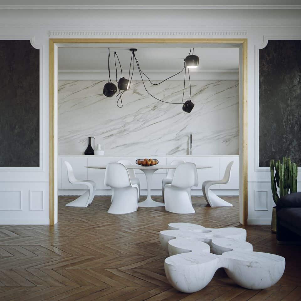 appartamento in stile parigino