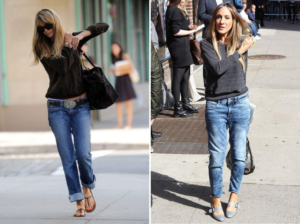 boyfriend jeans come indossarli
