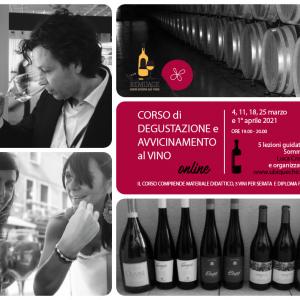 Corso di degustazione e avvicinamento al vino online