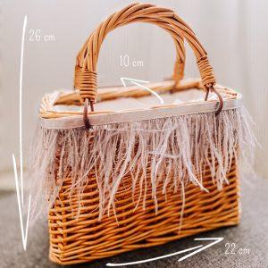 bag mini picnic con piume