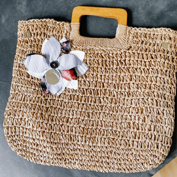 shopping bag rafia caramello 02