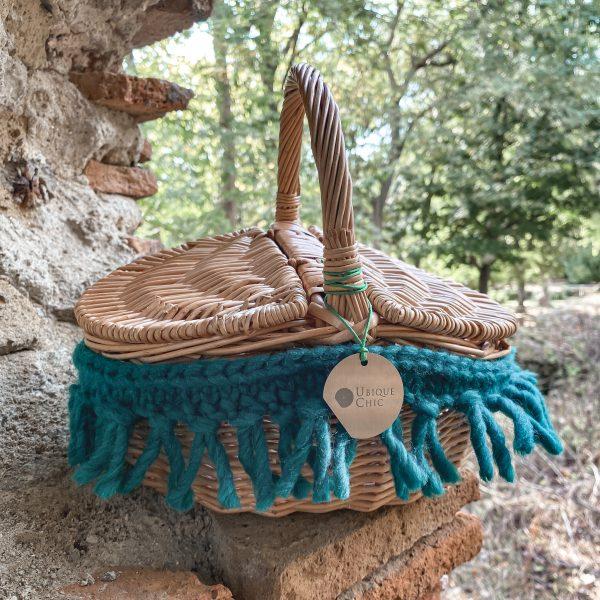 Borsa mini picnic con lana